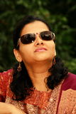 Indian woman in sunglasses Royalty Free Stock Photography