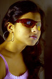 Indian woman in sunglasses Stock Photo