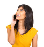 Indian woman talking phone Stock Photos