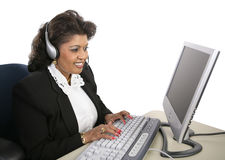 Indian Woman - Technical Support Stock Photography