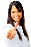 Indian woman thumbs up Stock Photo