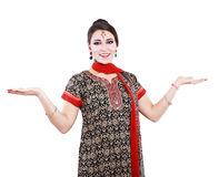 Indian woman in traditional clothing Stock Photos