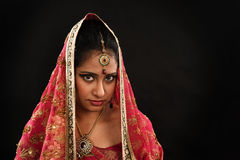 Indian woman in traditional sari Stock Image