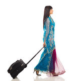 Indian woman traveling Royalty Free Stock Images