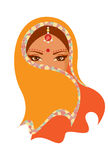 Indian woman. Vector  illustration of Indian woman Royalty Free Stock Photos