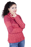 Indian Woman in Warm Clothes Royalty Free Stock Images