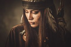 Free Indian Woman Warrior Royalty Free Stock Photography - 53145087