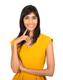 Indian woman on white Royalty Free Stock Image