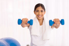 Indian woman working out Stock Images