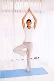 Indian woman yoga exercise Royalty Free Stock Image