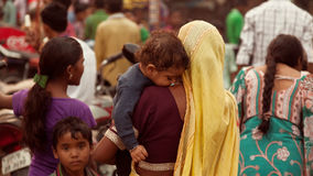 Indian women and children at fair Stock Photography