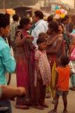 Indian women and children at fair Stock Photos