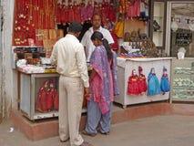 Indian women in colorful saris Stock Photos