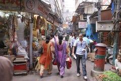 Indian women in colorful saris Stock Image