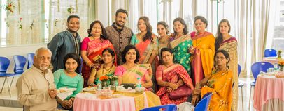 Indian family at wedding stock image