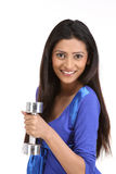 Indian women with dumb bells Stock Photo