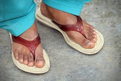 Indian women feet Royalty Free Stock Image