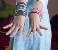 Indian women hands Royalty Free Stock Photos