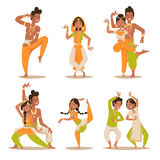 Indian women and man dancing vector  Stock Images