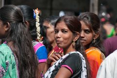 Indian women on Market in Bangalore Royalty Free Stock Images