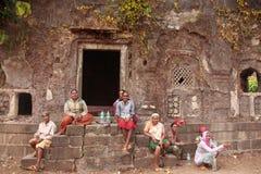 Indian women relaxing in janjira fort Stock Photography