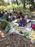 Indian women sell vegetables Royalty Free Stock Photo