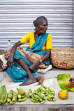 Indian women selling greengrocery at street market place Stock Images