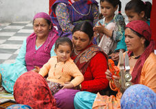 Indian women singing Stock Photos