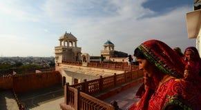 Indian women in traditional clothes. Junagarh Fort. Bikaner. Rajasthan. India Royalty Free Stock Photos