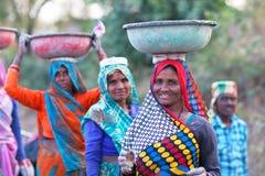 Indian women working hard Royalty Free Stock Image