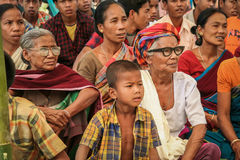 Indian women and young boy from Tripura royalty free stock photo