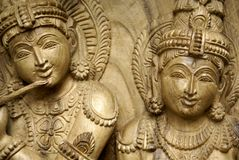 Indian wood scuplture. An indian wooden carved scuplture Stock Photography