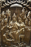 Indian wooden art stock image