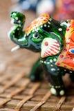 Indian wooden elephant Royalty Free Stock Photos