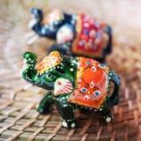 Indian wooden elephant Stock Photo