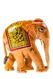 Indian wooden elephant Stock Image