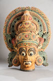 Indian wooden statue Royalty Free Stock Photography