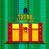 Indian Wooden Trunk representing colorful India. Easy to edit vector illustration of Indian Wooden Trunk representing colorful India Royalty Free Stock Images