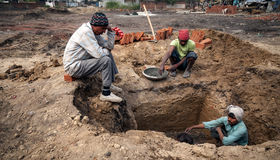 Indian worker Royalty Free Stock Photography