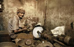 Indian worker. The Indian worker in Gujarat Royalty Free Stock Photo