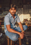 Indian worker Stock Images
