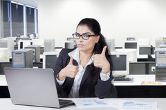 Indian worker with thumbs up Royalty Free Stock Image