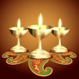 Indian worship lamp Royalty Free Stock Image