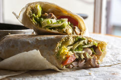 Indian wrap with meat and garam masala Royalty Free Stock Photo