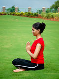 Indian Yoga Girl Stock Photo