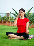 Indian Yoga Girl Royalty Free Stock Images