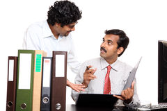 Indian young business people discussing Stock Photos
