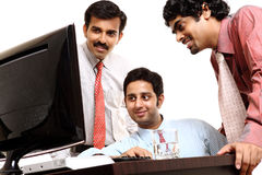 Indian young business people in office Stock Photo