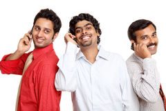 Indian young business peoples talking in mobile Stock Image