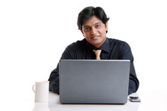 Indian young businessman Stock Photo